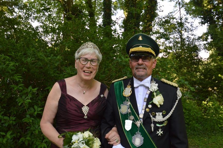 Die Majestäten Günther und Waltraud Kock